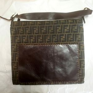 Authentic Fendi Zucca Vintage Handbag
